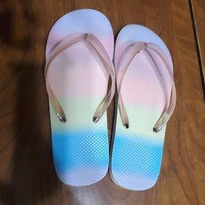 Little girl size 1/2 flip flops